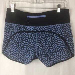 Lululemon black and purple running shorts size 6